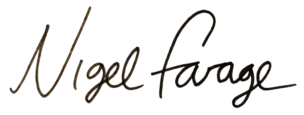 Nigel Farage Signature